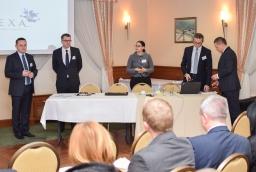 Krzysztof Wojtowicz (Deloitte), Sebastian Goschorski (Finexa), Joanna Zawiejska-Rataj i Mariusz Śrona (Deloitte)  /fot.: mab /