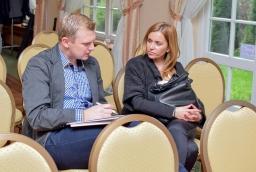Łukasz Kupczyk (Grant) i Justyna Michalska (Noble Bank)  /fot.: mab /