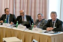 Na zdjęciu od lewej: Roman Walaszkowski, Marcel Bulla, Bartłomiej Sochański i Torsten Haasch  /fot.: mab /