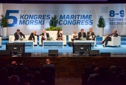 """Debata poświęcona """"Żegludze śródlądowej w polityce rozwoju korytarzy transportowych""""  /fot.: mab /"""