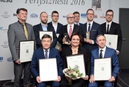 Laureaci i wyróżnieni w konkursie Perły Biznesu 2016  /fot.: mab /
