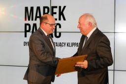 Marek Pałac (Klippan Safety Polska) i prof. Stefan Domek (ZUT)  /fot.: ABES /