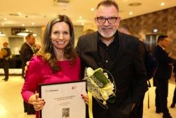 Kinga Łata (Zdrojowa Invest) i Jacek Jekiel (Opera na Zamku)  /fot.: ABES /