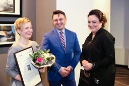 Kamila Dembska, Wojciech Gągorowski (Event factory), Monika Kowalska (Vienna House Amber Baltic)  /fot.: Świat Biznesu /