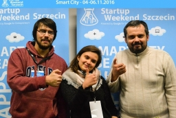 Zespół Trackato zajął 2. miejsce w Startup Weekend Szczecin 2016  /fot.: mat. prasowe /