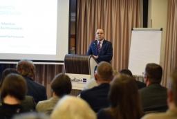 Marcin Przybysz opowiadał o transgranicznej kancelarii prawnej  /fot.: mab /