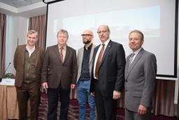 Dr Petere Schneider, Torsten Haasch, szef IHK Neubrandenburg, dr hab. Hubert Czerepk i Michael Gericke,   /fot.: mab /