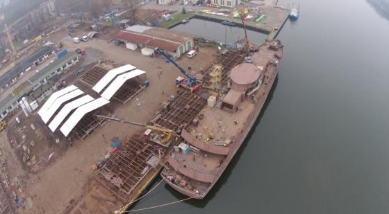 W szczecińskiej stoczni budują statek naukowo-badawczy