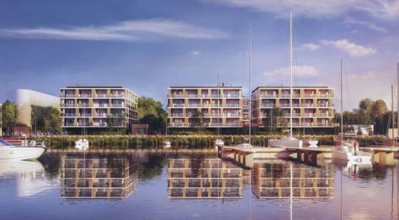 Cztery apartamentowce powstaną nad brzegiem Jeziora Dąbie