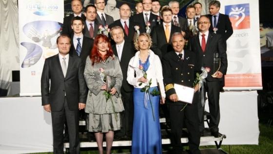 Nominowani i laureaci Konkursu Gospodarczego Prezydenta Szczecina /fot. mab/