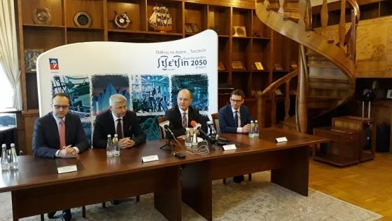Konferencja, na której oficjalnie ogłoszone zostało otwarcie szczecińskiego oddziału ABSL /fot.: Mat. UM Szczecin /
