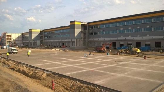 Budowa centrum logistycznego Amazon w Kołbaskowie  /fot.: Mat. Amazon Polska /