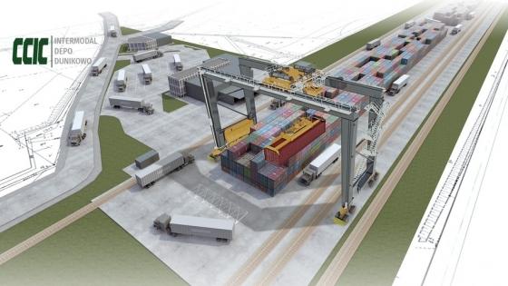 Wizualizacja Terminala CCIC w Dunikowie