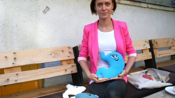Agnieszka Nieradka i jej pluszowe organy  /fot.: ŁP /