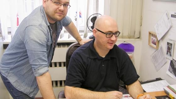 Krzysztof Frank i Łukasz Wieczorkowski, właściciele MSC /fot.: ata /