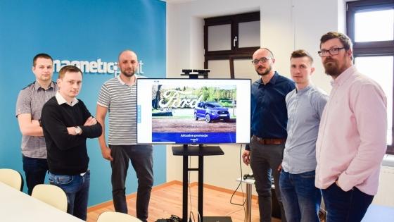 W Magnetic Point powstał zespół, który zajmuje się projektem platformy dla marki Ford. Od lewej: Mateusz Grab, Paweł Kazubski, Paweł Dziennik, Michał Klemczak, Szymon Krzysztyniak, Paweł Sukiennik