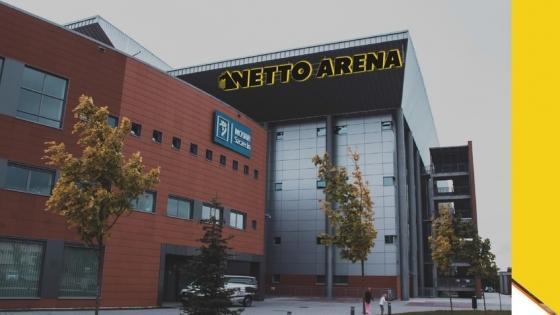 Wizualizacja oznakowania szczecińskiej hali logo Netto Arena /fot.: mat. UM Szczecin /