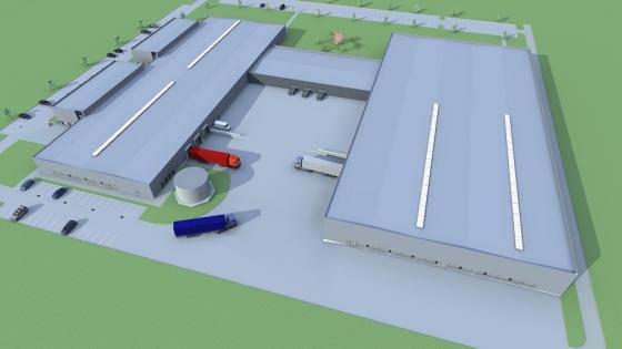 Wizualizacja zakładu i centrum dystrybucyjnego Radiometer Solutions po inwestycji /fot.: Mat. Radiometer Solutions  /
