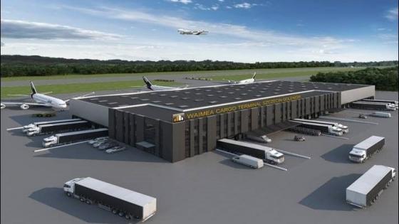 Tak ma wyglądać terminal cargo przy lotnisku w Goleniowie. WIZUALIZACJA /fot.: Mat. Waimea Holding /
