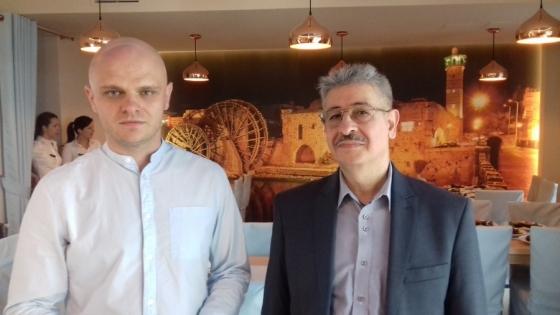 Dr Samir Zeair (z prawej) i menedżer Aramii Michał Szuster /fot.: mab /