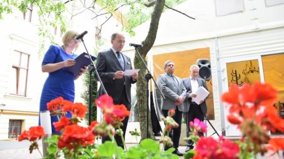 Podczas oficjalnego rozpoczęcia spotkania Frank Benischke, wiceprezydent IHK Neubrandenburg przedstawił dane z półrocznej działności Domu Gospodarki w Szczecinie /fot.: mab /