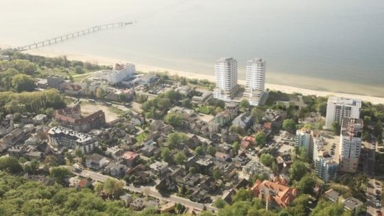 Szczeciński deweloper wybuduje dwa ekskluzywne, 17-piętrowe apartamentowce w Międzyzdrojach, przy samej plaży /fot.: Siemaszko /