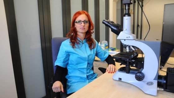Sylwia Wdowiak w swojej pracowni  /fot.: fot. R. Kroplewski  /