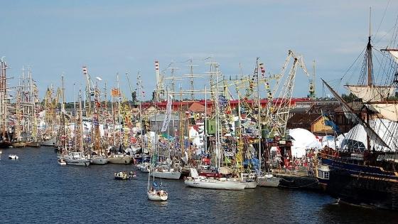 Finał regat The Tall Ships Races w 2013 roku - żaglowce cumujące przy Łasztowni /fot.: AK /