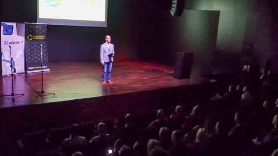 Konferencja Trend IT. Na zdjęciu Jakub Borowczyk z firmy infinIT Codelab, prezes Klastra IT /fot.: mab /